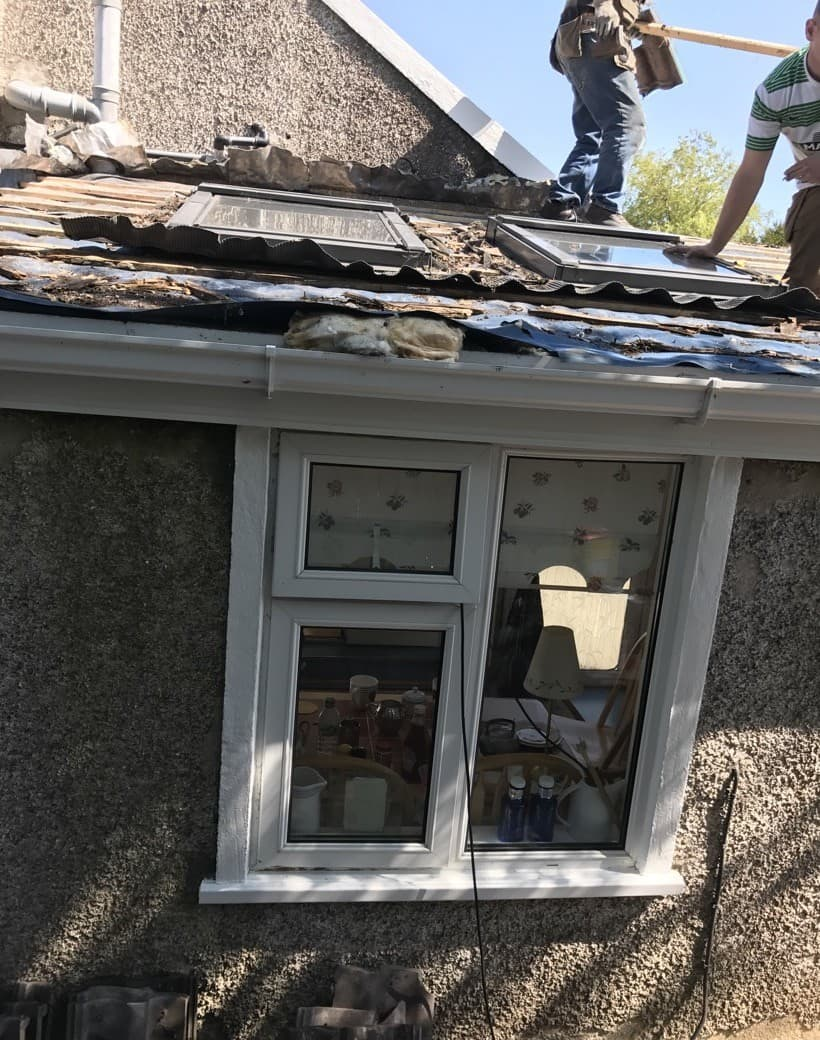 Before Roofing Extension Repair