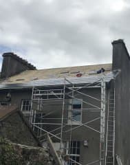 During-new-slate-roof Roofing and Guttering Cork Roofing Repair